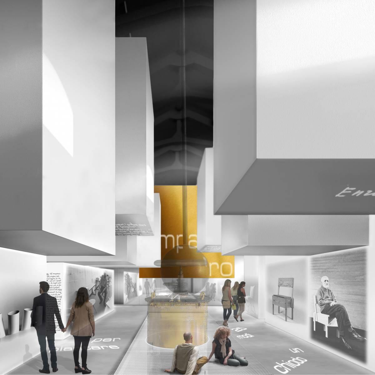 render del progetto di architettura del concorso per la sede mdi compasso oro Milano