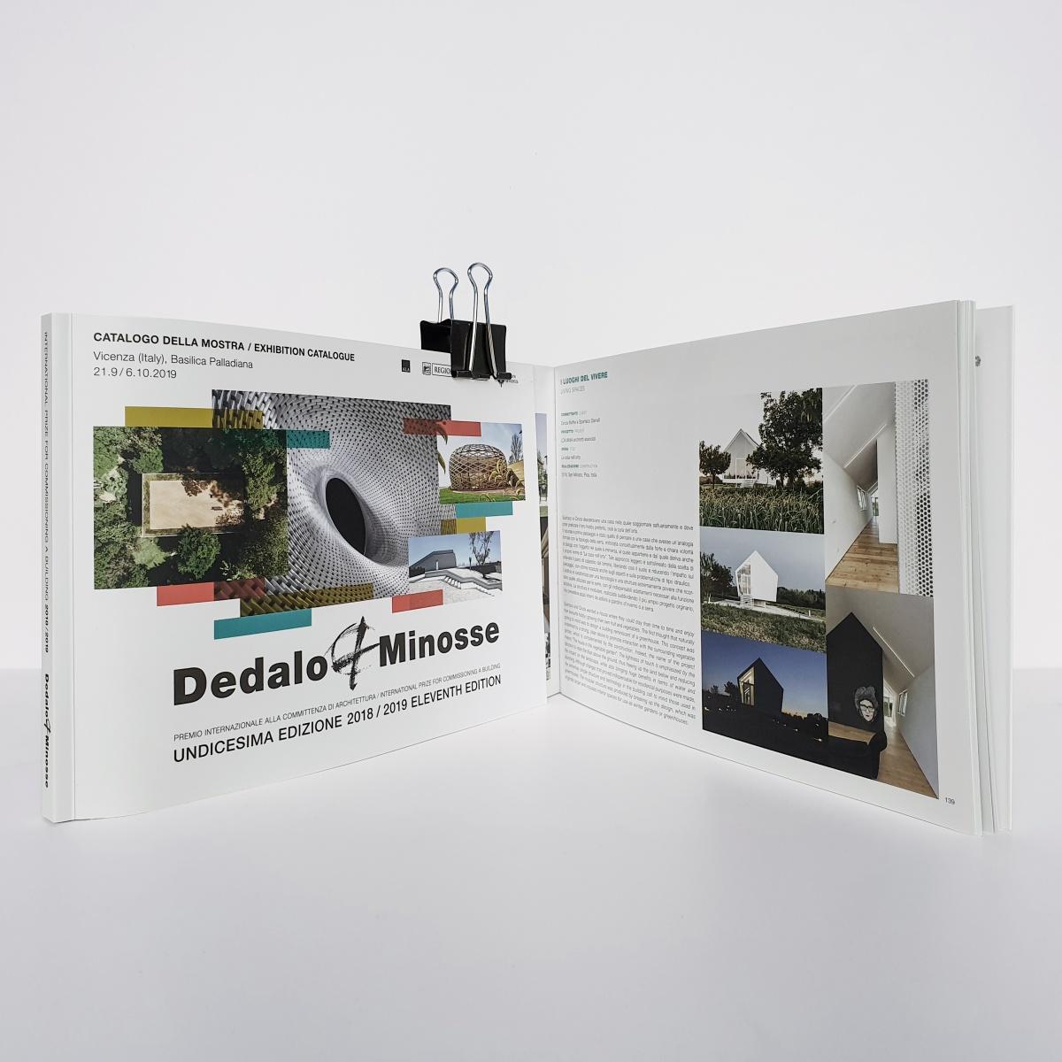 copertina del catalogo del premio internazionale di architettura dedalo minosse in cui è inserita casa nell'orto