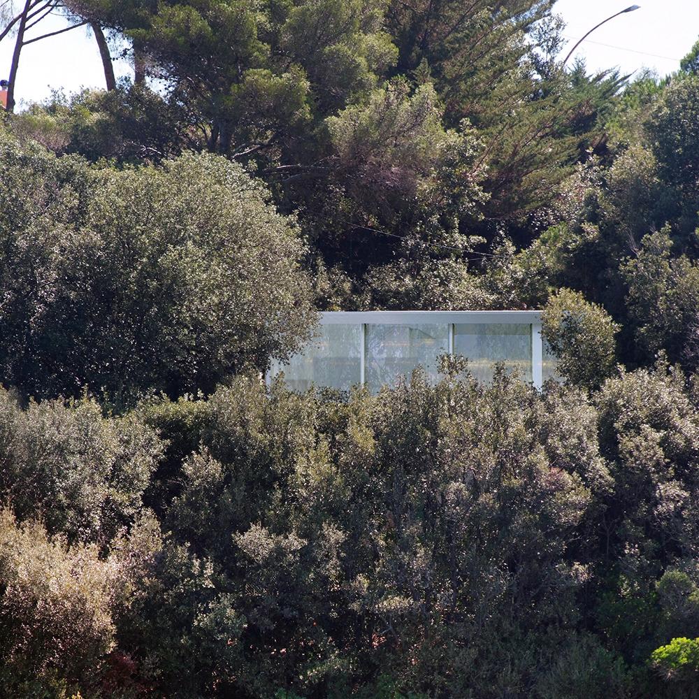 prospetto principale che si affaccia sul mare dell'Elba