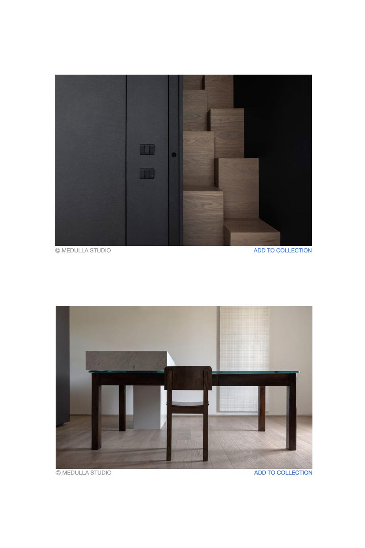 immagini di dettaglio tavolo e scale