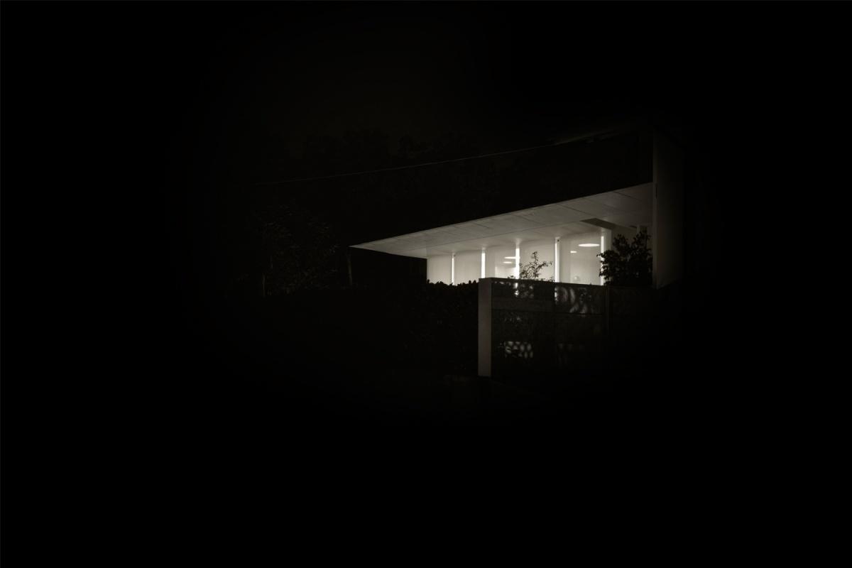 vista notturna della casa