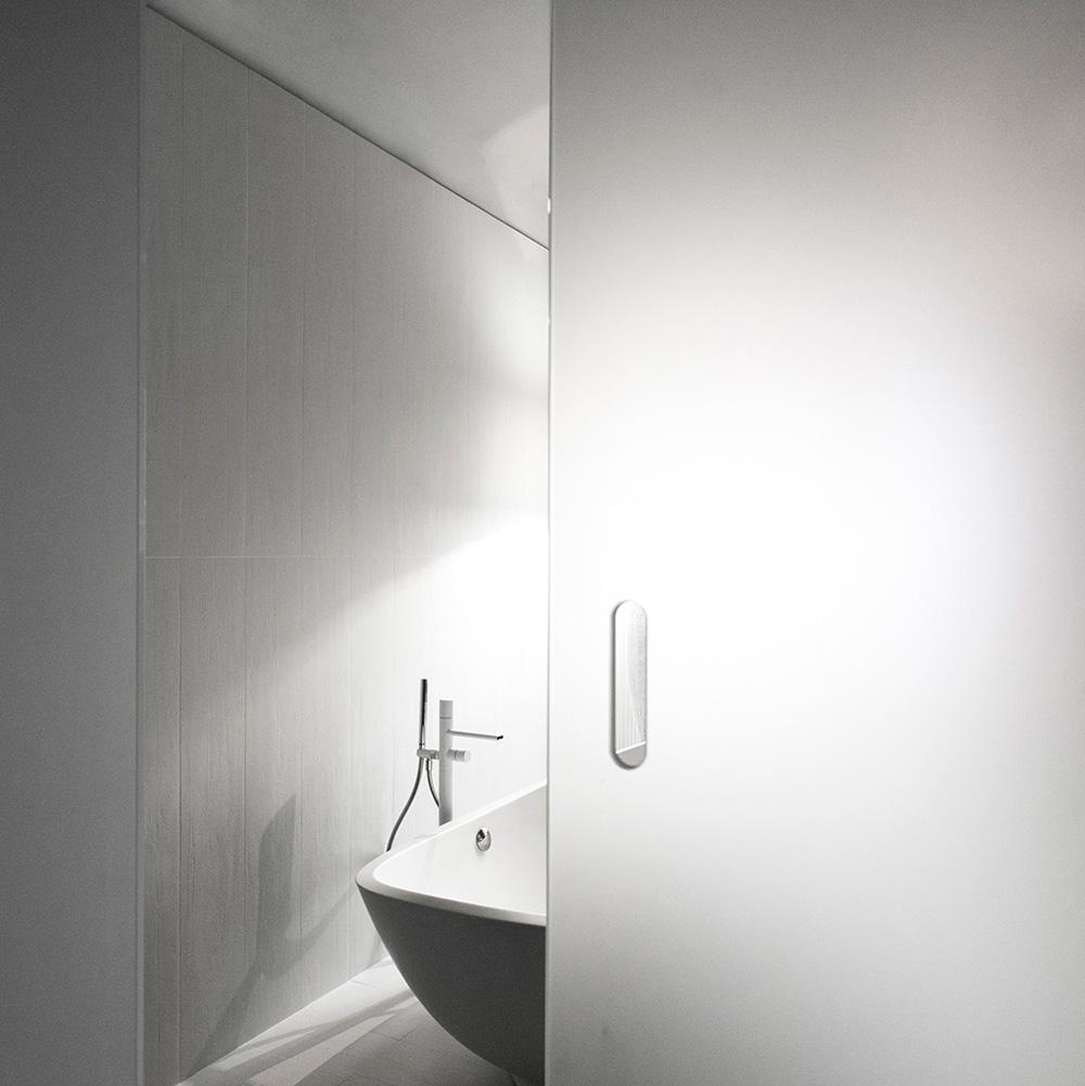 vetro satinato vasca da bagno