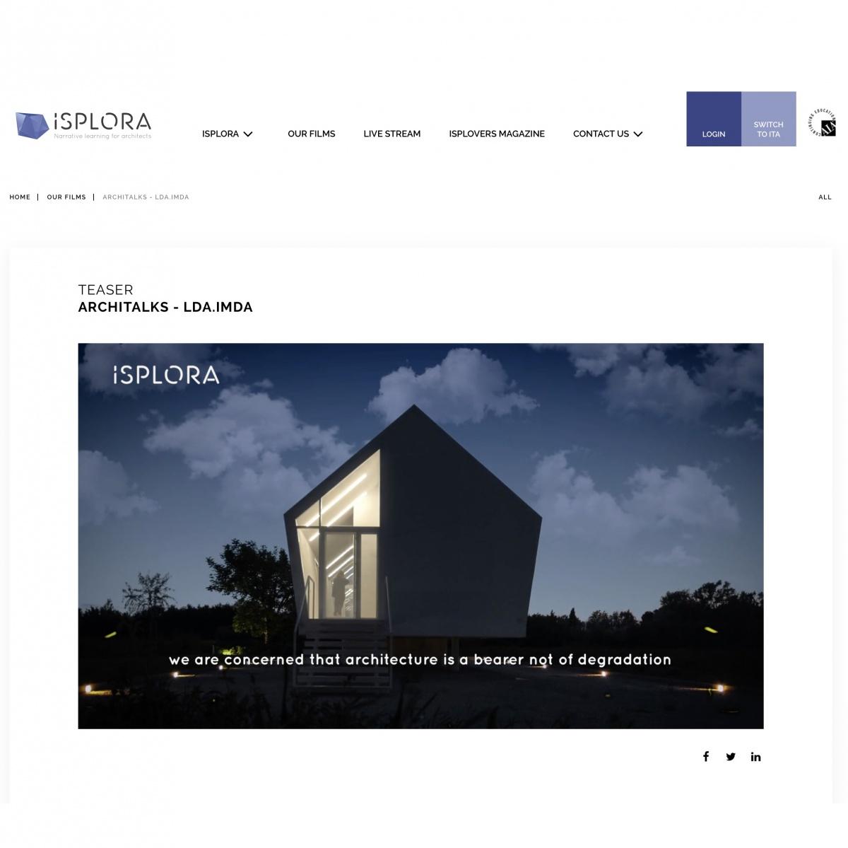 https://www.ldaimda.com/ArchiTalk-LDAiMdA-isplora.htm