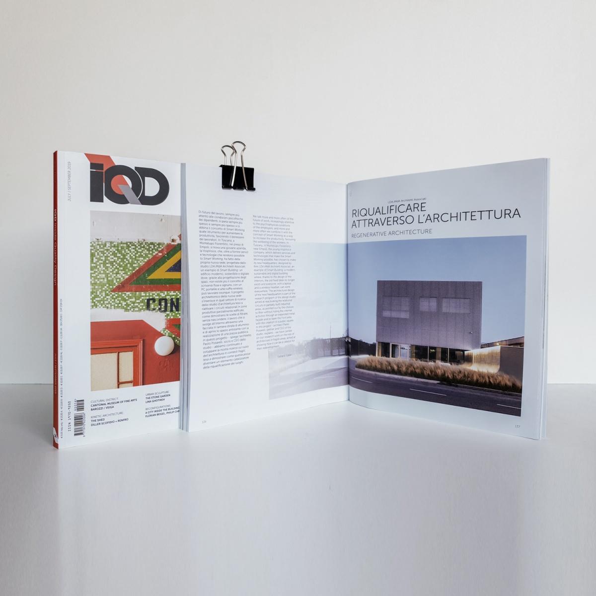 immagine della rivista iqd magazine con articolo su voipvoice