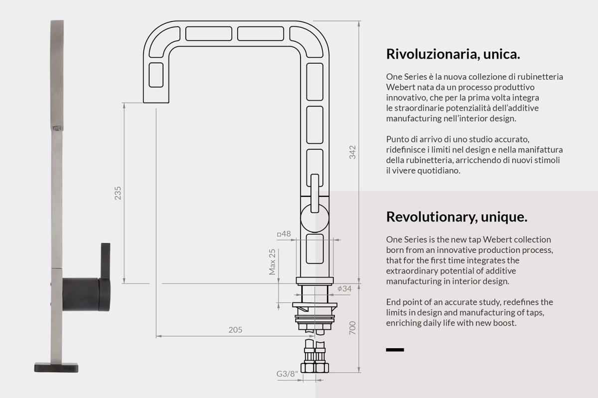 disegno del primo rubinetto 3d webert