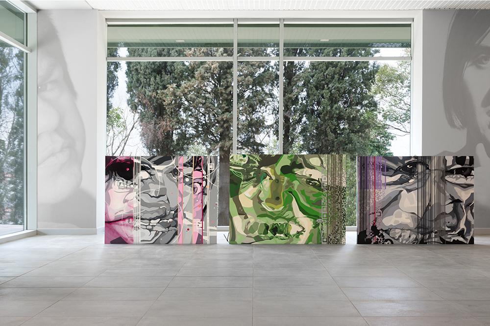 opere artista mercurio s17s71 stefania catastini casa verde ritratto ospiti