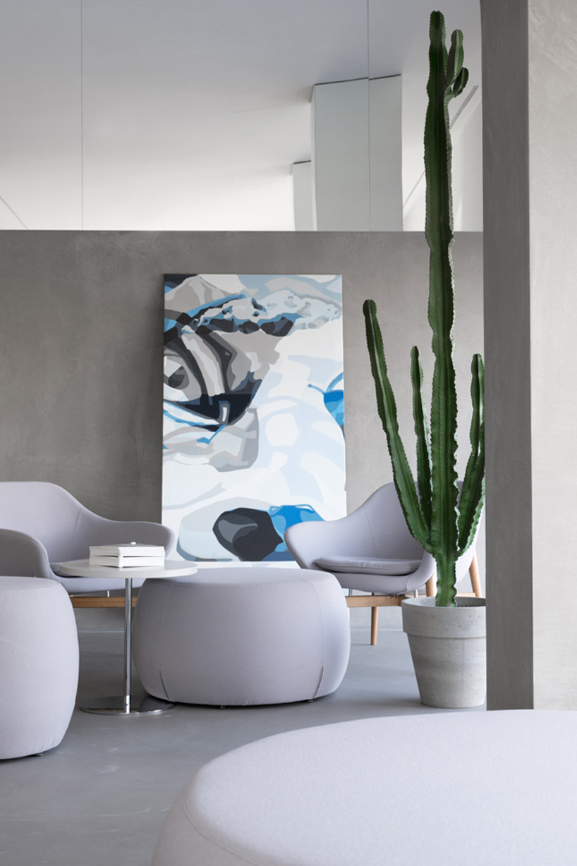 opera mercucio s17s71 in pelle dipinto in casa contemporanea