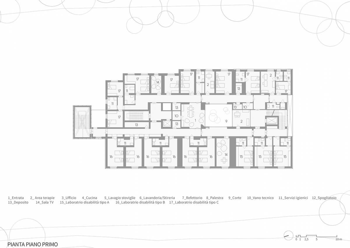 piano primo disegno casa verde