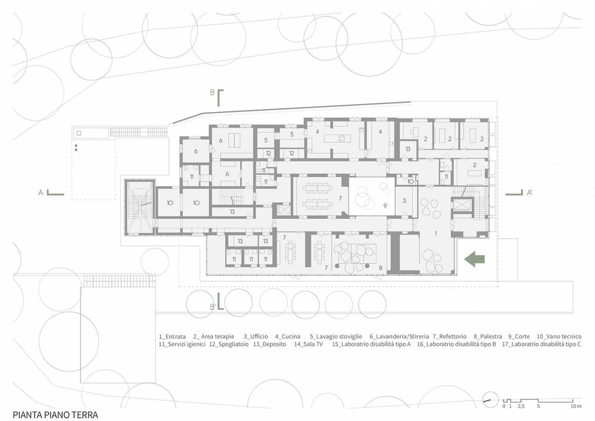 piano terra casa verde