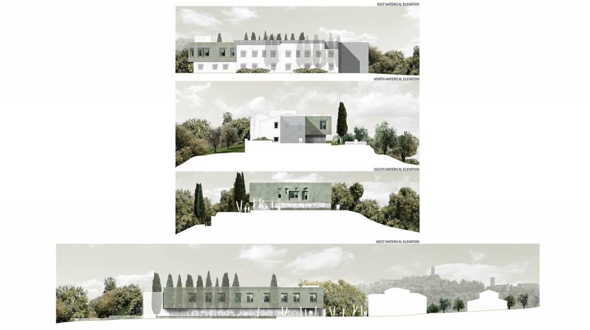 casa verde prospetti inseriti paesaggio san miniato