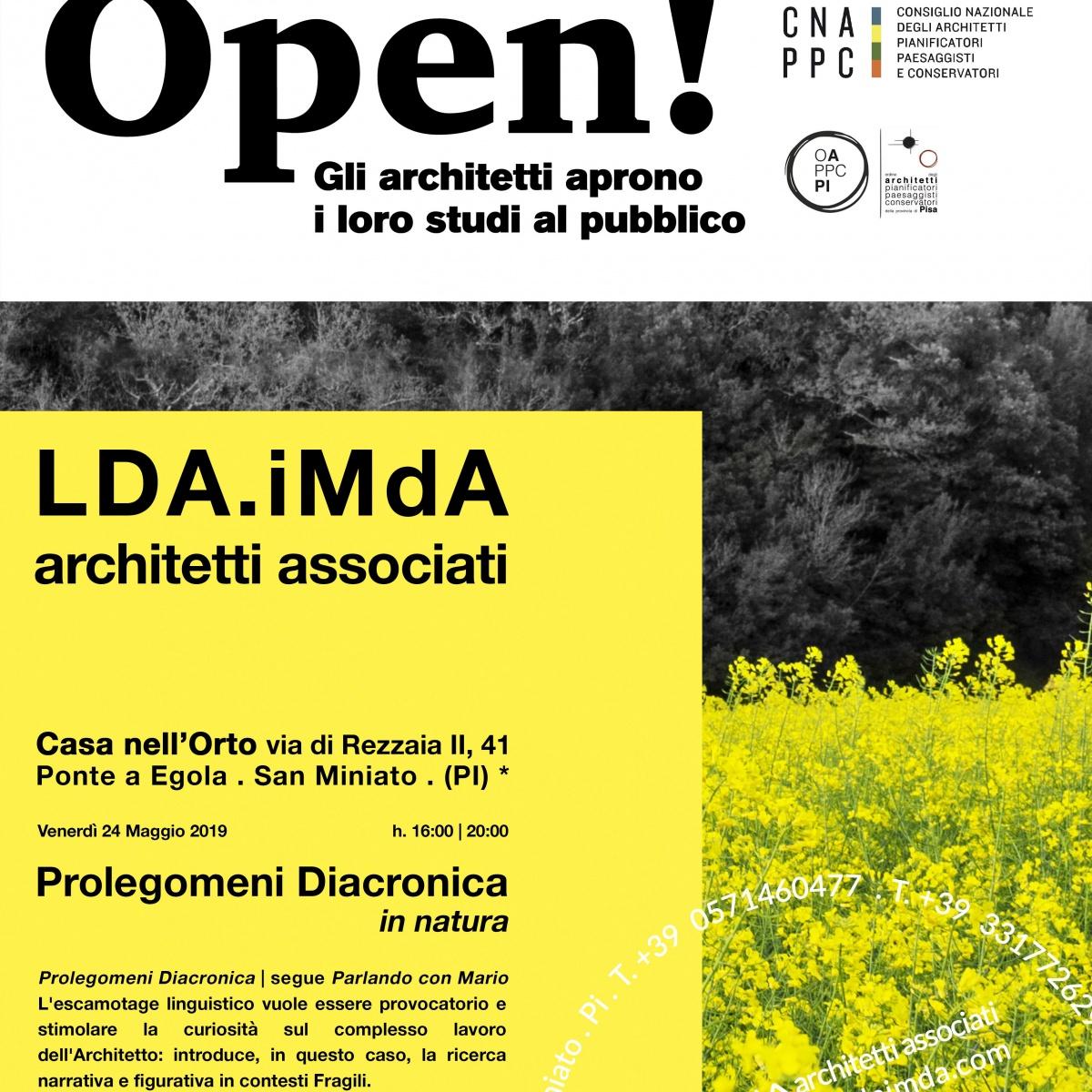 foto campo di colza a San Miniato Pisa evento open studi aperti architetti ldaimda