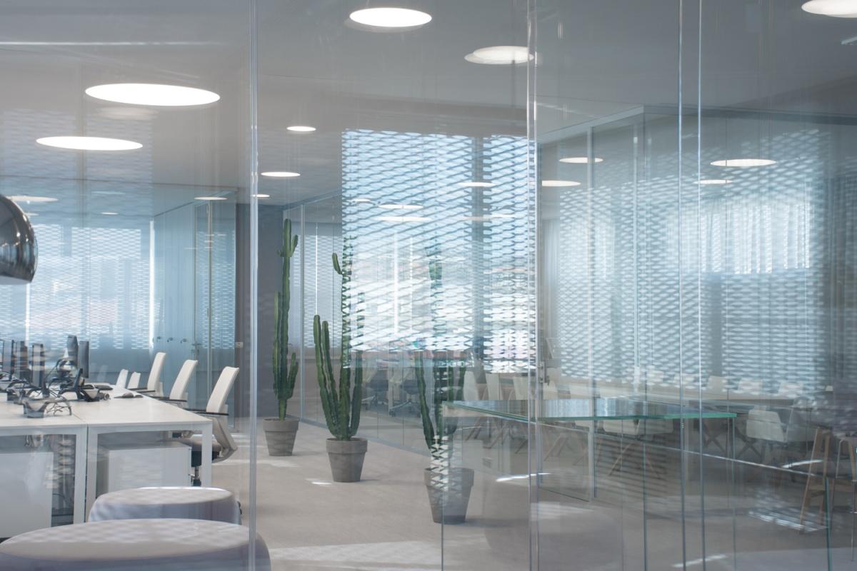 interno uffici box in vetro