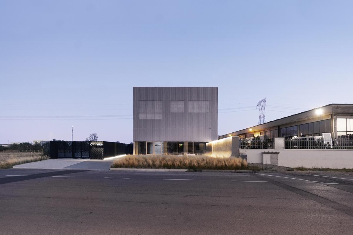 voipvoice headquarters progetto di uffici contemporanei vista dalla strada